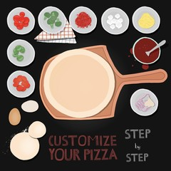 Customize your pizza.