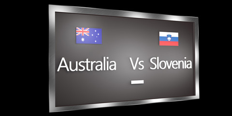 Competition Scoreboard.World Cup.Group D Australia Slovenia