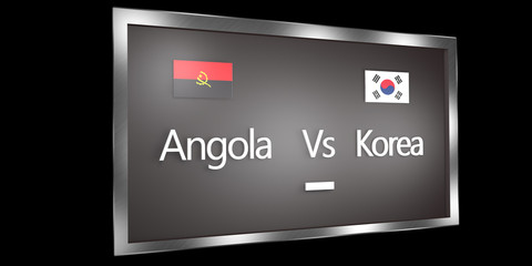 Competition Scoreboard.World Cup.Group D Angola Korea