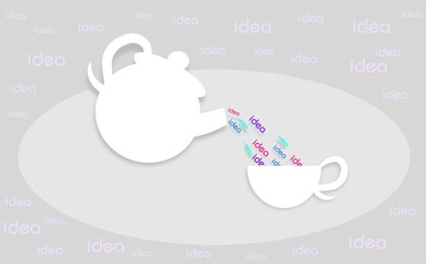 Jug and cup of ideas
