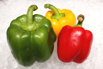 red, green and yellow colored bell pepper