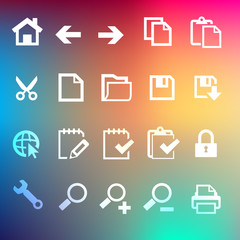Iconset 1 Transparent Regenbogen