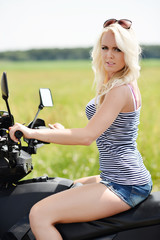 Sexy woman on ATV