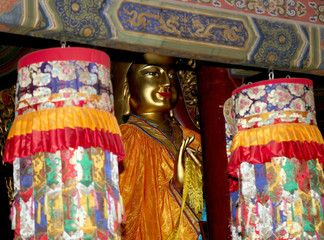 Buddhist Temple. Statue of Buddha --Yonghe Temple, beijing