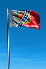 Montgomery, Alabama (USA) flag waving on the wind