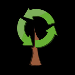 Eco tree, vector