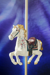 Antiqued Carousel Horse