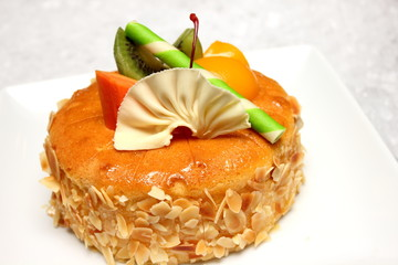beautiful and tasty almond cake