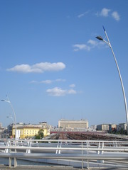 North rail station area in Bucharest, seen from Basarab overpass