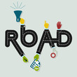 Abstract road word