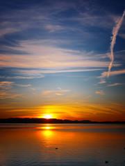 sunset at lake chiemsee (8)