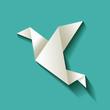 Freelancer Vogel Origami Türkis