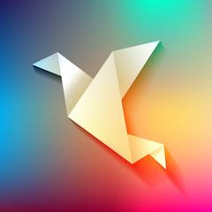 Freelancer Vogel Origami Regenbogen