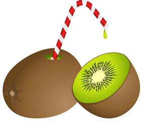 Kiwi with Straw