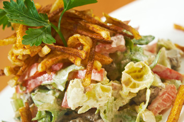 salad fried potatoes