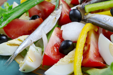 Nicoise Salad with anchovies