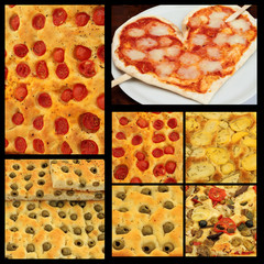 italian pizza collage