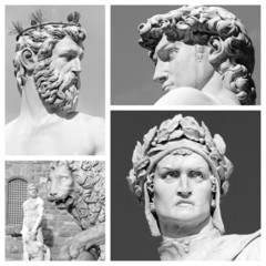 florentine sculptures collage
