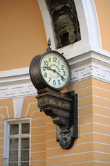 Old style clock in Saint Petersburg, Russia