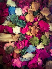 Potpourri is dry flowers