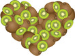 Kiwi Heart Shaped
