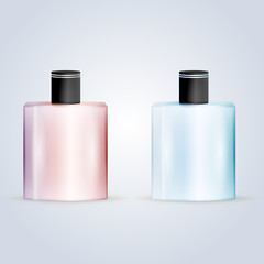 Vector illustration of perfume flasks