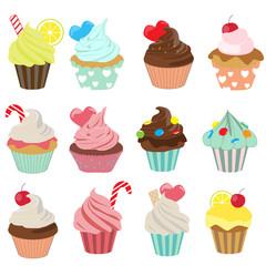 cupcake icon set 1