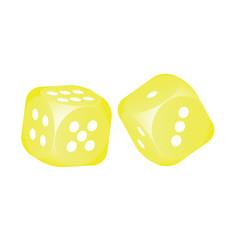 Yellow dice
