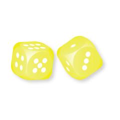 Yellow dice vector