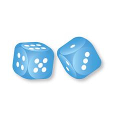 Blue dice vector