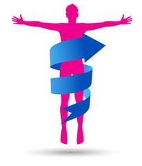 corpo umano, freccia, salute