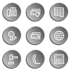 Finance web icon set 2, grey stickers set