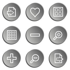 Image viewer web icon set 1, grey stickers set