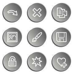 Image viewer web icon set 2, grey stickers set