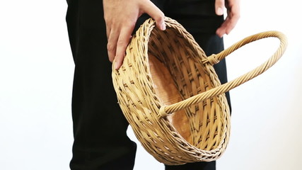 Man with Empty Basket
