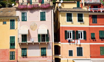 View on colorful houses in Portofino, Italy. Europe