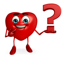 Heart Shape character with question mark