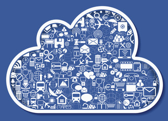 Concept of cloud computing, vector