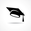 graduation cap symbol stock vector