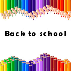 Back to school, colorful pencil, background, vector