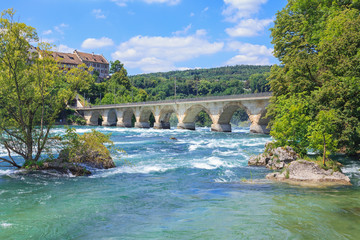 Rhine, just above the Rhine Falls