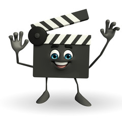 Clapper Board Character with hello pose