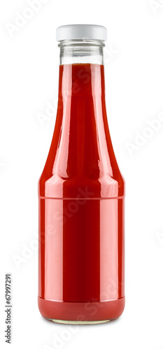 Fotobehang Kruiderij ketchup bottle