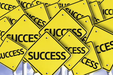 Success written on multiple road sign