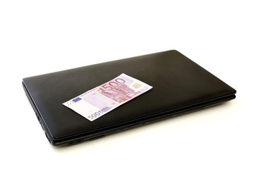Five hundred euros on laptop