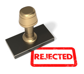 "Rubber stamp ""Rejected"""