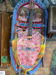 art-painted guitar on Crete