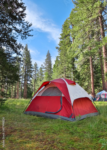 Fotobehang Kamperen Camping