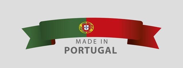 Made in Portugal, Portuguese Flag (vector Art)
