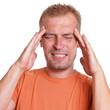 canvas print picture - Mann hat Kopfschmerzen